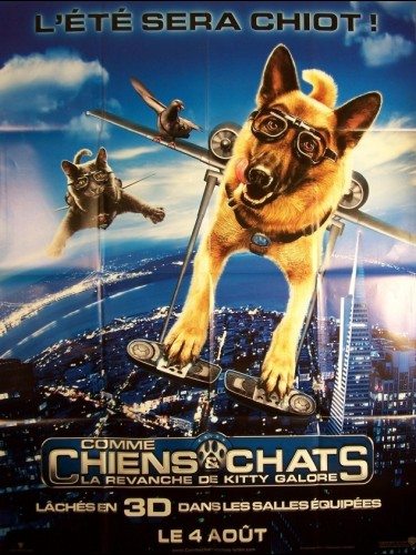 Affiche du film COMME CHIENS ET CHATS-LA REVENCHE DE KITTY GALORE- - CATS & DOGS: THE REVENGE OF KITTY GALORE