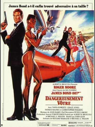 Affiche du film DANGEREUSEMENT VOTRE JAMES BOND - A VIEW TO A KILL