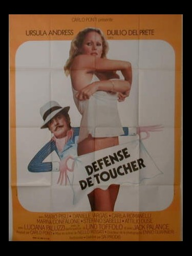 Affiche du film DEFENSE DE TOUCHER - L'INFERMIERA