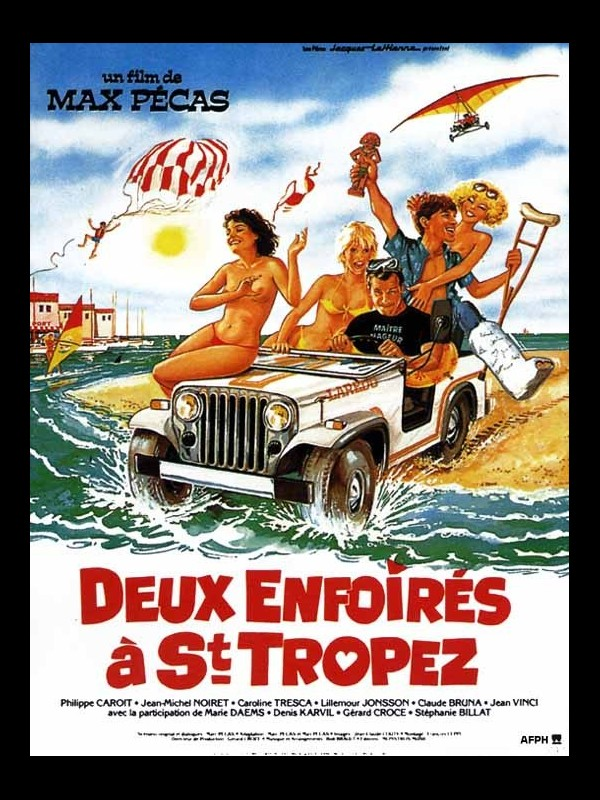 Affiche du film DEUX ENFOIRES A SAINT-TROPEZ