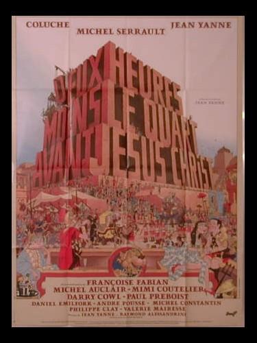 Affiche du film DEUX HEURES MOINS LE QUART AV J.C