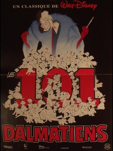 Affiche du film 101 DALMATIENS (LES) D.A. - ONE HUNDRED AND ONE DALMATIANS