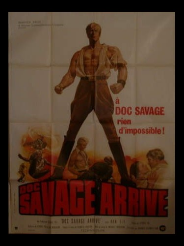 Affiche du film DOC SAVAGE ARRIVE - THE MAN OF BRONZE