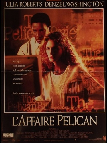 Affiche du film AFFAIRE PELICAN (L') - THE PELICAN BRIEF