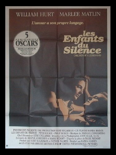 Affiche du film ENFANTS DU SILENCE (LES) - CHILDREN OF A LESSER GOD