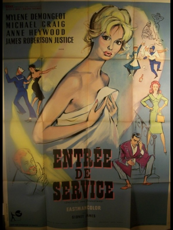 Affiche du film ENTREE DE SERVICE - UPSTAIRS AND DOWNSTAIRS