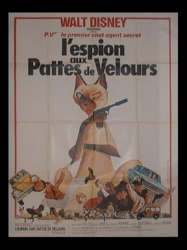 Affiche du film ESPION AUX PATTES DE VELOURS (L') WALT DISNEY - THAT DARN CAT !