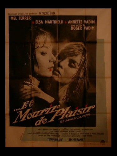 Affiche du film ET MOURIR DE PLAISIR - BLOOD AND ROSES