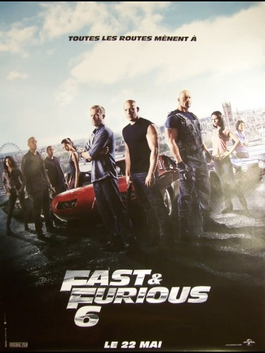Affiche du film FAST AND FURIOUS 6 (AFFICHE ROULÉE)