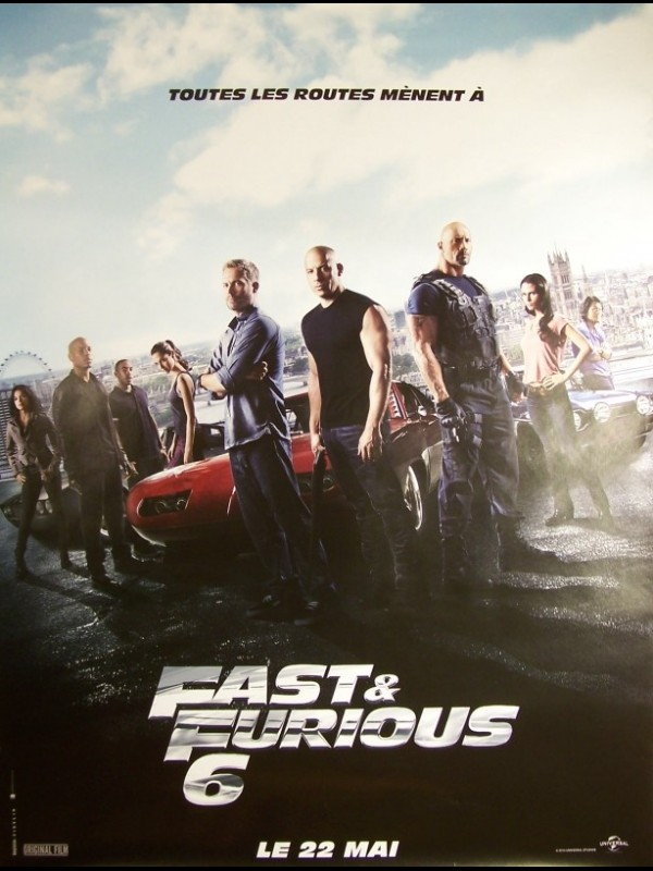 Affiche du film FAST AND FURIOUS 6 (AFFICHE ROULÉE)