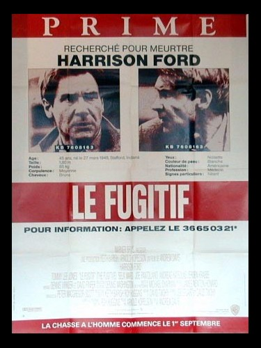 Affiche du film FUGITIF (LE) - THE FUGITIVE