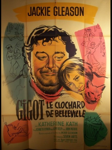 Affiche du film GIGOT LE CLOCHARD DE BELLEVILLE - GIGOT