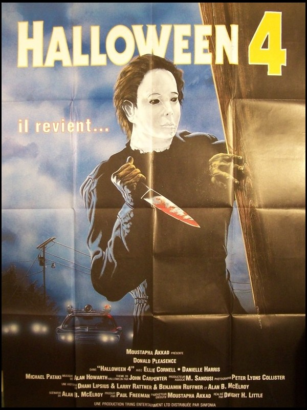 Affiche du film HALLOWEEN 4 - HALLOWEEN 4: THE RETURN OF MICHAEL MYERS