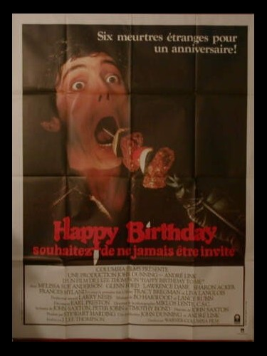 Affiche du film HAPPY BIRTHDAY TO ME