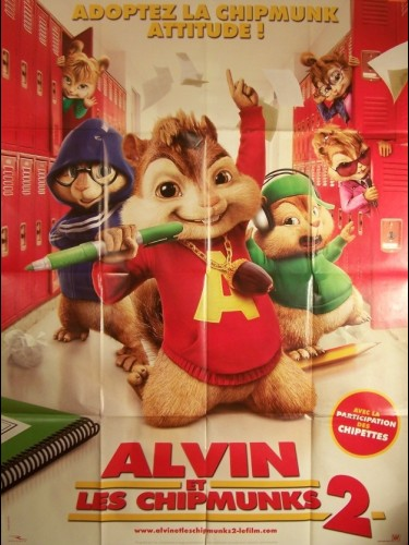Affiche du film ALVIN ET LES CHIPMUNKS 2 - ALVIN AND THE CHIPMUNKS: THE SQUEAKQUEL