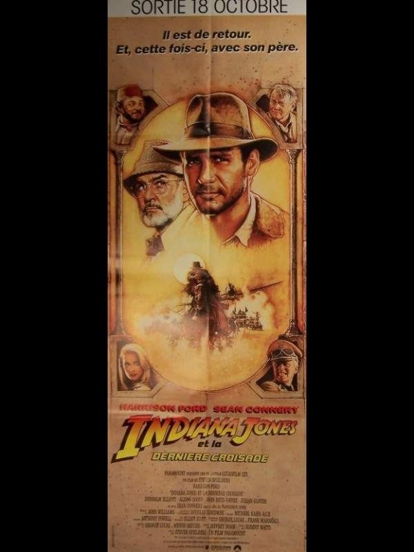Affiche du film INDIANA JONES ET LA DERNIERE CROISADE - INDIANA JONES AND THE LAST CRUSADE