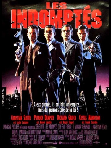 Affiche du film INDOMPTES (LES) - MOBSTERS