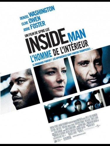 Affiche du film INSIDE MAN - L'HOMME DE L'INTERIEUR - INSIDE MAN