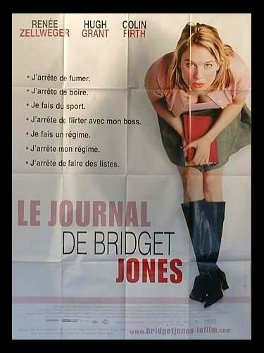 Affiche du film JOURNAL DE BRIDGET JONES (LE) - BRIDGET JONES'S DIARY