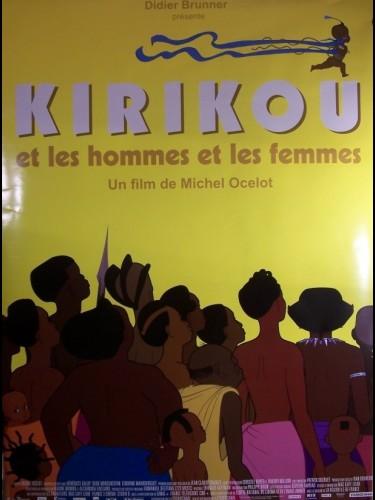 Affiche du film KIRIKOU LES HOMMES ET LES FEMMES (AFFICHE ROULÉE)