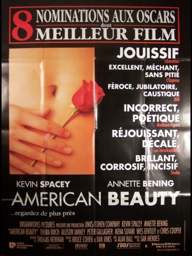 Affiche du film AMIRICAN BEAUTY-NOMINATION AUX OSCARS-