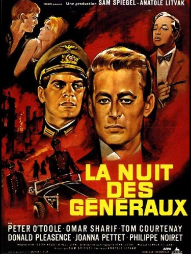 Affiche du film LA NUIT DES GENERAUX - THE NIGHT OF THE GENERALS
