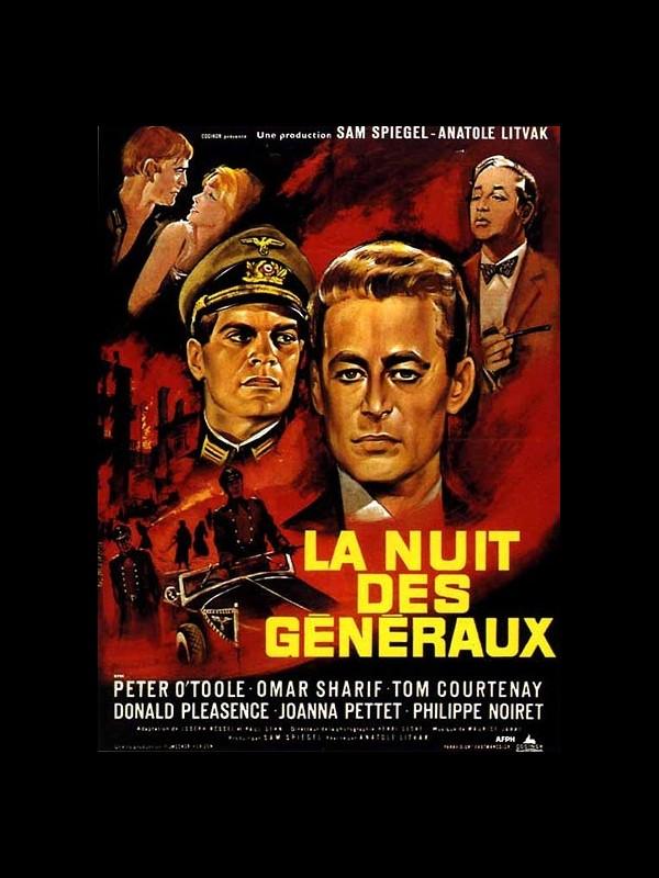 Affiche du film LA NUIT DES GENERAUX - THE NIGHT OF THE GENERALS