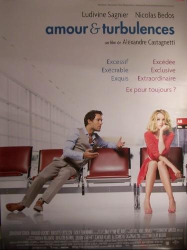 Affiche du film AMOUR ET TURBULENCES (AFFICHE ROULÉE)