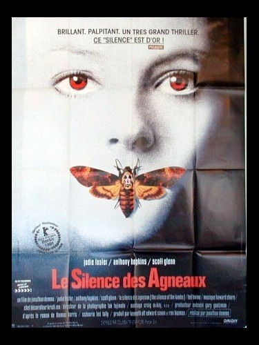 Affiche du film LE SILENCE DES AGNEAUX - THE SILENCE OF THE LAMBS