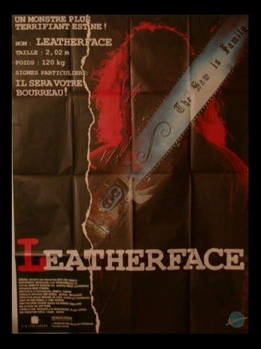 Affiche du film LEATHERFACE (MASSACRE A LA TRONÇONNEUSE 3) - TEXAS CHAINSAW MASSACRE III