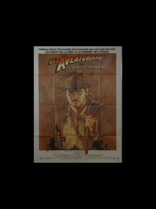 Affiche du film LES AVENTURIERS DE L'ARCHE PERDUE - INDIANA JONES - - RAIDERS OF THE LOST ARK
