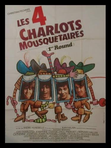 Affiche du film LES QUATRES CHARLOTS MOUSQUETAIRES