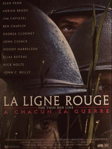 Affiche du film LIGNE ROUGE (LA) - THE THIN RED LINE