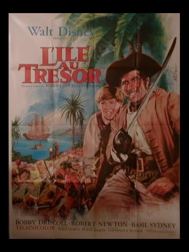 Affiche du film L'ILE AU TRESOR - TREASURE ISLAND