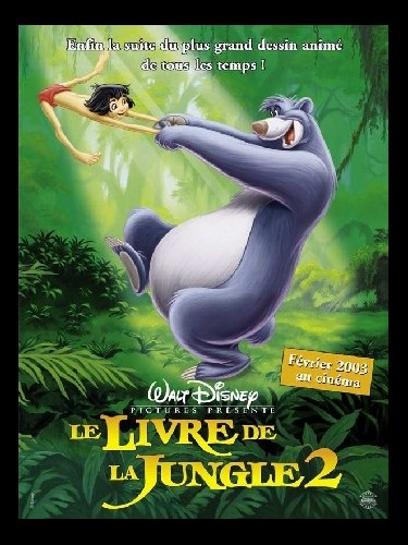 Affiche du film LIVRE DE LA JUNGLE 2 (LE) - JUNGLE BOOK (THE) 2