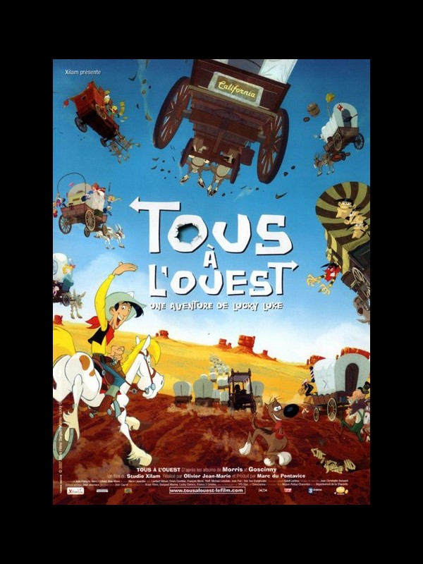 Affiche du film LUCKY LUKE : TOUS A L'OUEST UNE AVENTURE DE LUCKY LUKE