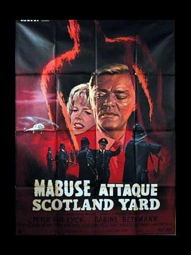 Affiche du film MABUSE ATTAQUE SCOTLAND YARD