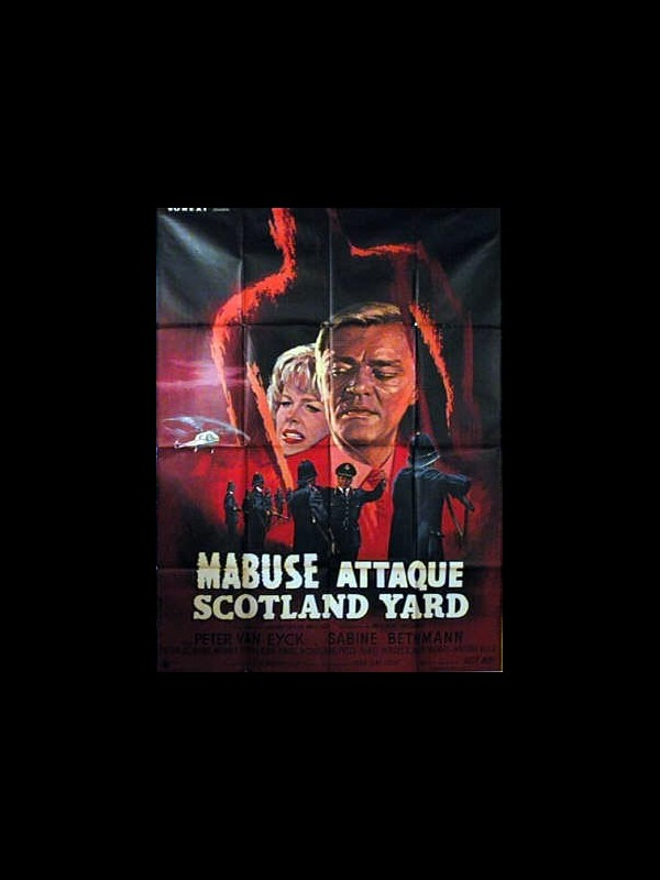 Affiche du film MABUSE ATTAQUE SCOTLAND YARD
