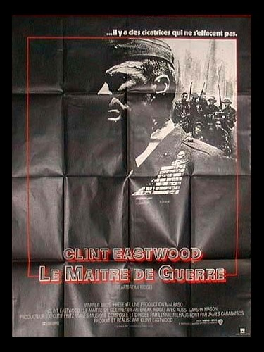Affiche du film MAITRE DE GUERRE (LE) - HEARTBREAK RIDGE
