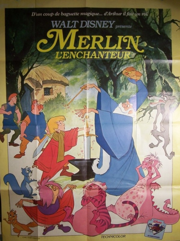 Affiche du film MERLIN L'ENCHANTEUR - THE SWORD IN THE STONE