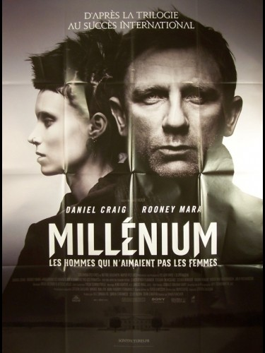 Affiche du film MILLENIUM LES HOMMES QUI N'AIMAIENT PAS LES FEMMES - THE GIRL WITH THE DRAGON TATTOO
