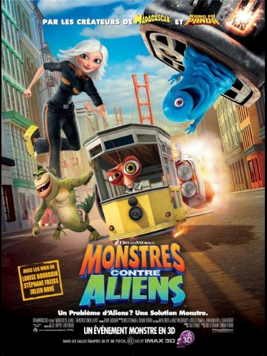 Affiche du film MONSTRES CONTRE ALIENS - MONSTERS VS ALIENS