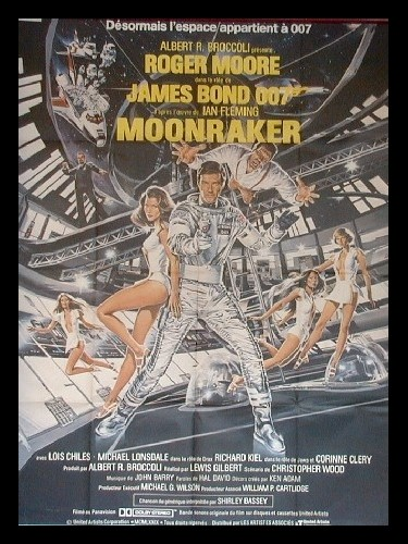 Affiche du film MOONRAKER (JAMES BOND)