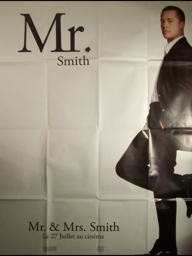 Affiche du film MR ET MRS SMITH-BRAD PITT-
