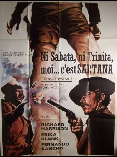 Affiche du film NI SABATA, NI TRINITA ,MOI...C'EST SARTANA - LA DILIGENCIA DE LOS CONDENADOS