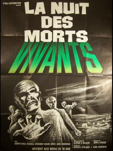 Affiche du film NUIT DES MORTS VIVANTS (LA) - NIGHT OF THE LIVING DEAD