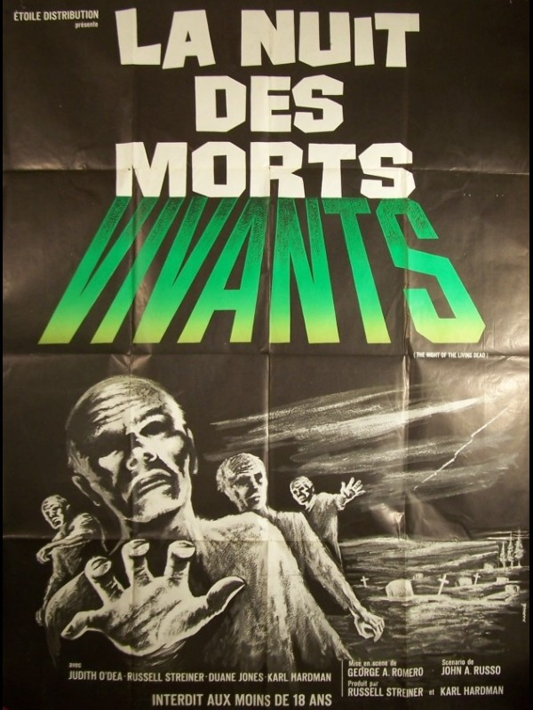 Affiche du film NUIT DES MORTS VIVANTS (LA) - NIGHT OF THE LIVING DEAD