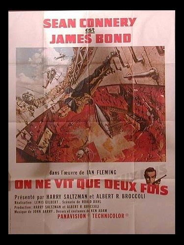 Affiche du film ON NE VIT QUE DEUX FOIS (JAMES BOND) - YOU ONLY LIVE TWICE