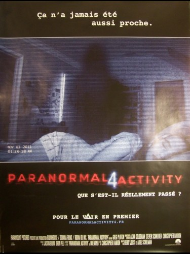 PARANORMAL ACTIVITY 4 (AFFICHE ROULÉE)