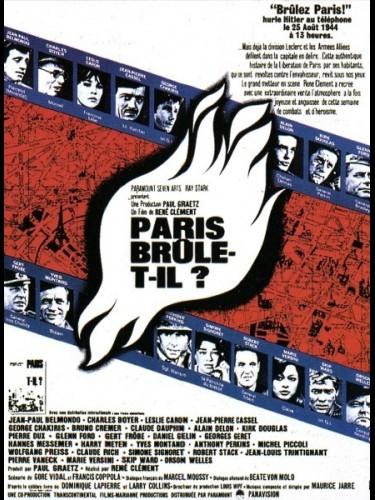 Affiche du film PARIS BRULE T-IL
